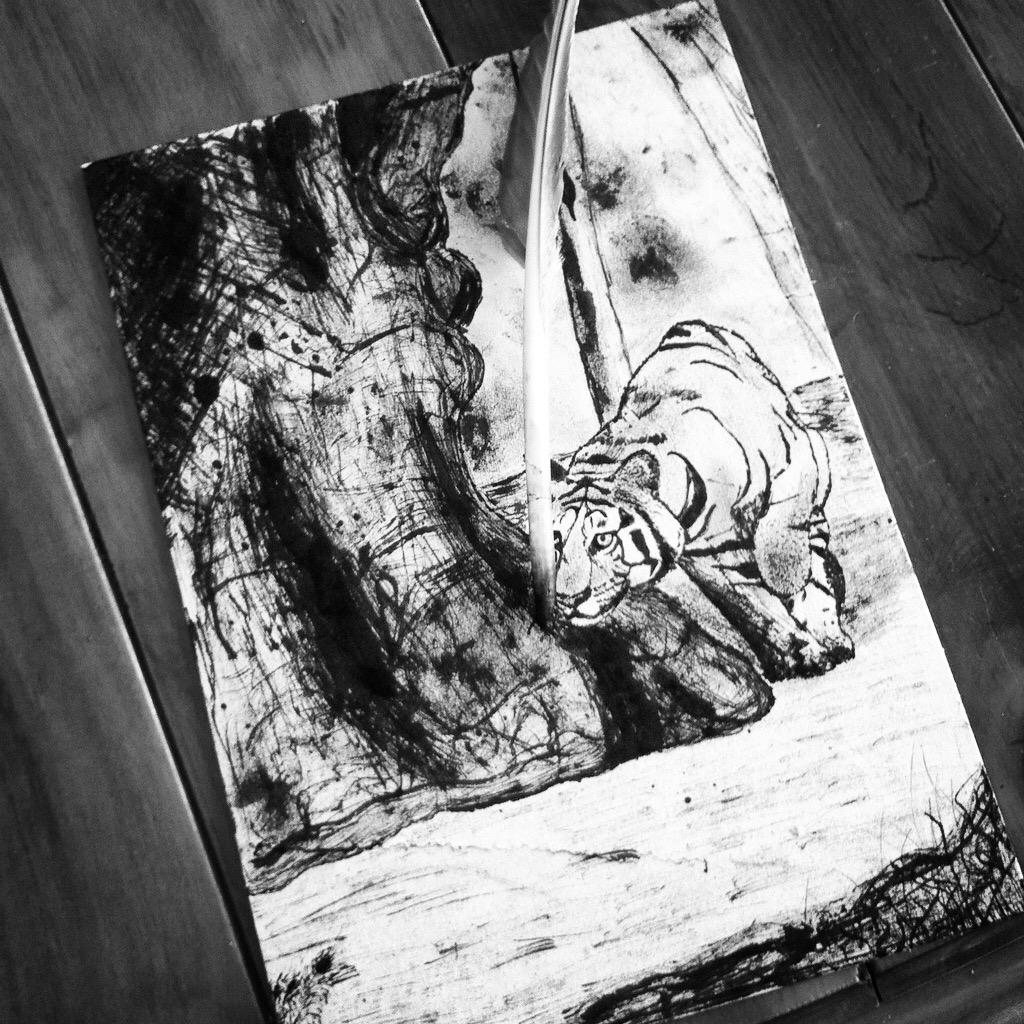 Stalking tiger by 7Esther7