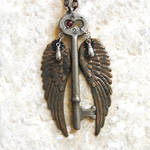 Steampunk Winged Skeleton Key