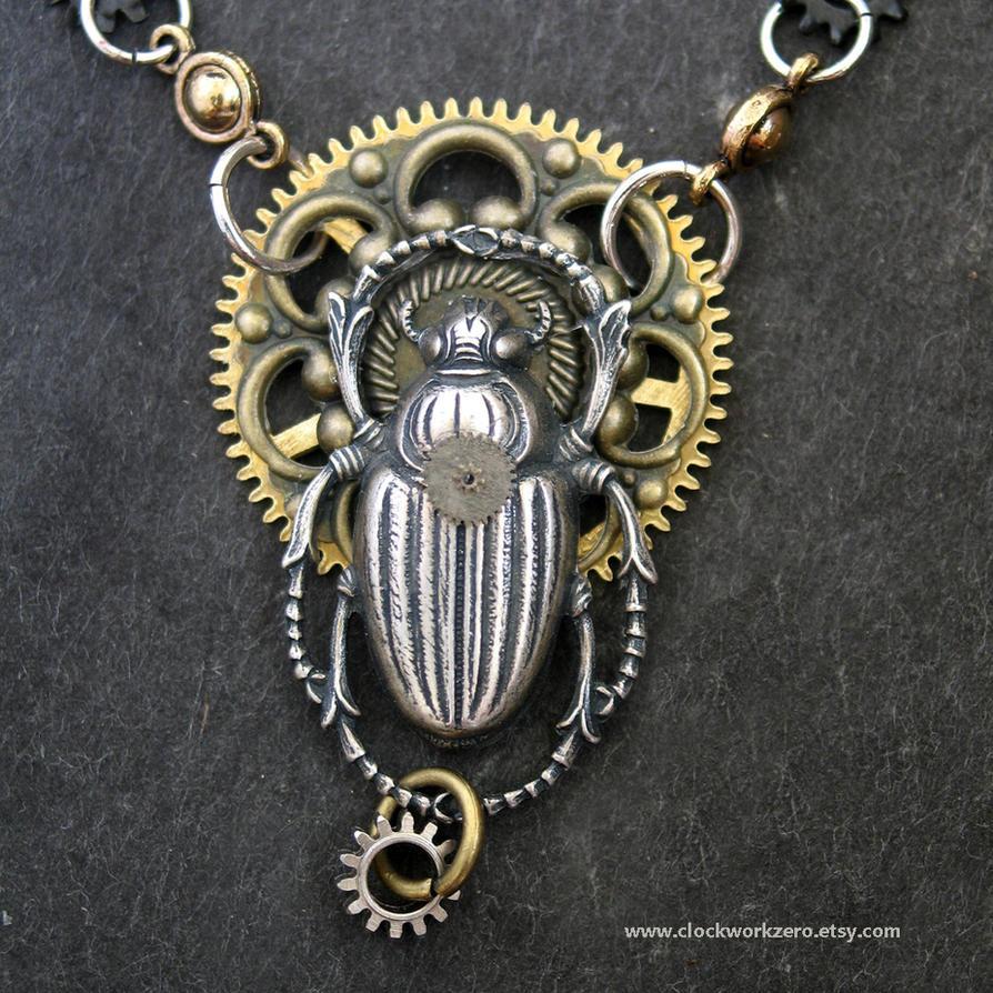 Mythological Steampunk jewelry by clockwork-zero