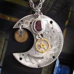 Steampunk Silver Moon