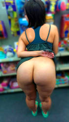 Flashing big butt in store by ThePrincessOfPower