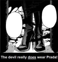 Sebby wears prada