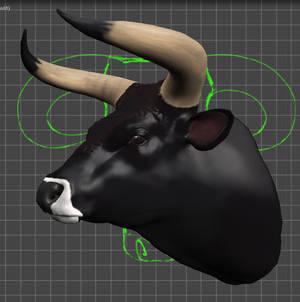 Aurochs Bull's Head