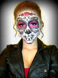 Sugar Skull (Day of the Dead Face Paint) 1