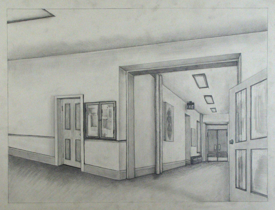 Two Point Perspective Drawing By Blacksapphire On DeviantArt - 2 point perspective drawing