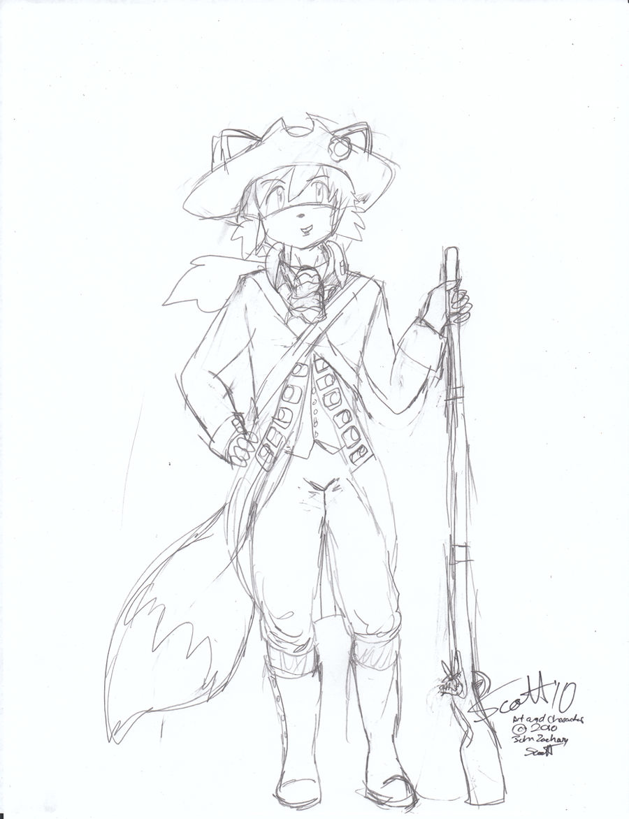 American Colonial Soldier Fox