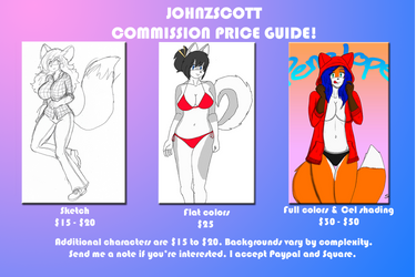 Commish price guide by JohnZScott