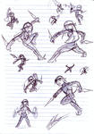 Action poses for Klonoa