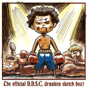 SD ComicCon Drink N Draw Boxer