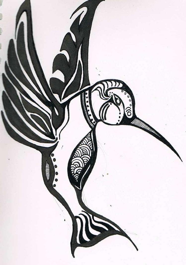 hummingbird tattoo design by vampireslover on deviantart. Black Bedroom Furniture Sets. Home Design Ideas