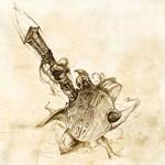 Greek warrior attack by gonzalokenny