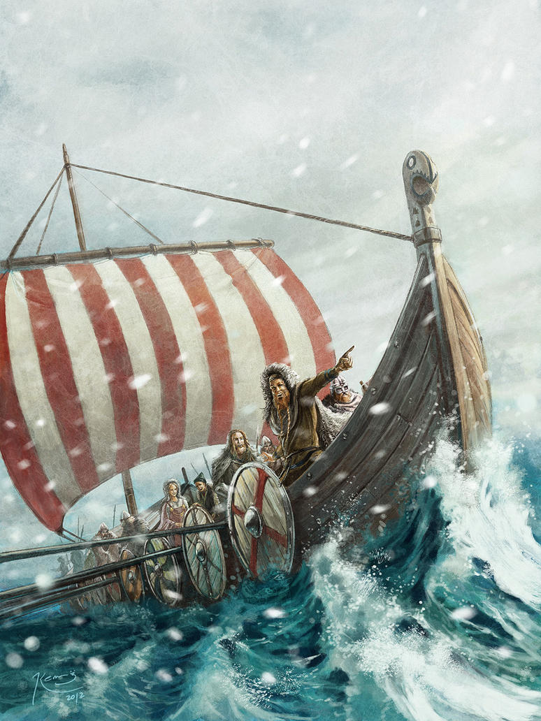 vikings on the green land by gonzalokenny on DeviantArt