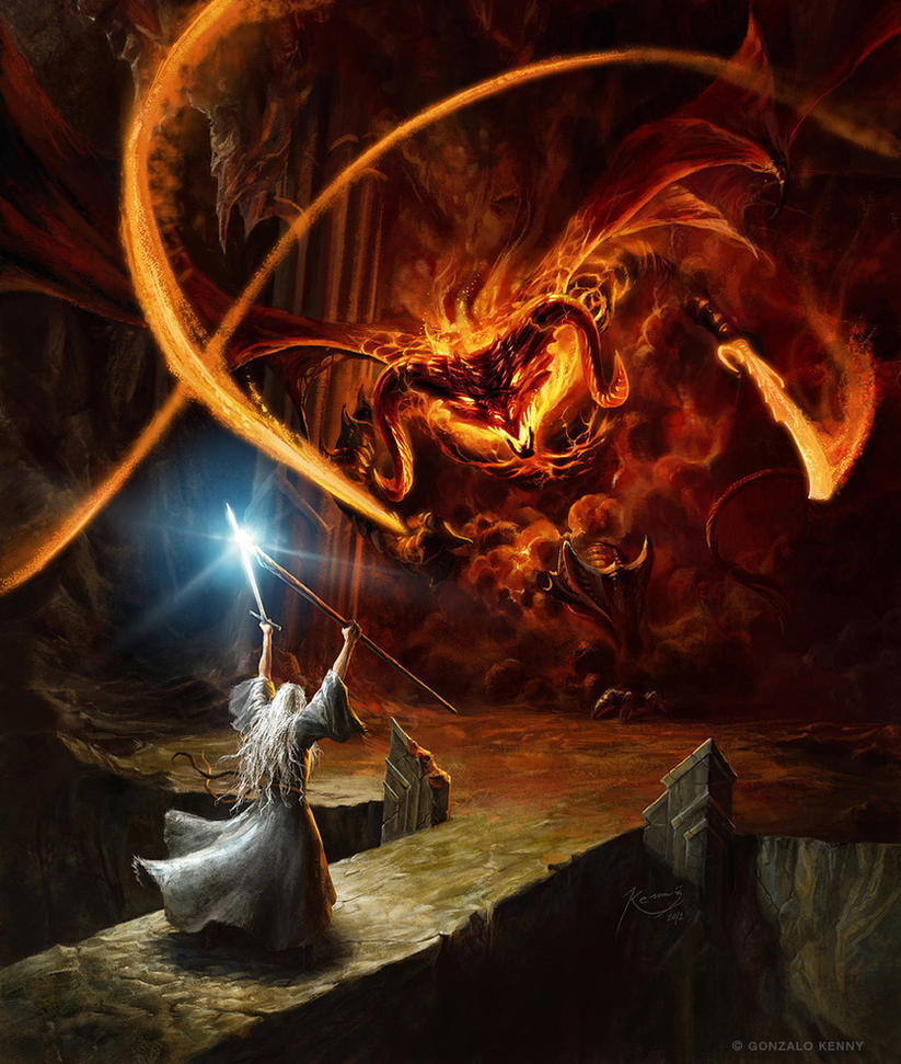Gandalf and the Balrog, by gonzalokenny.