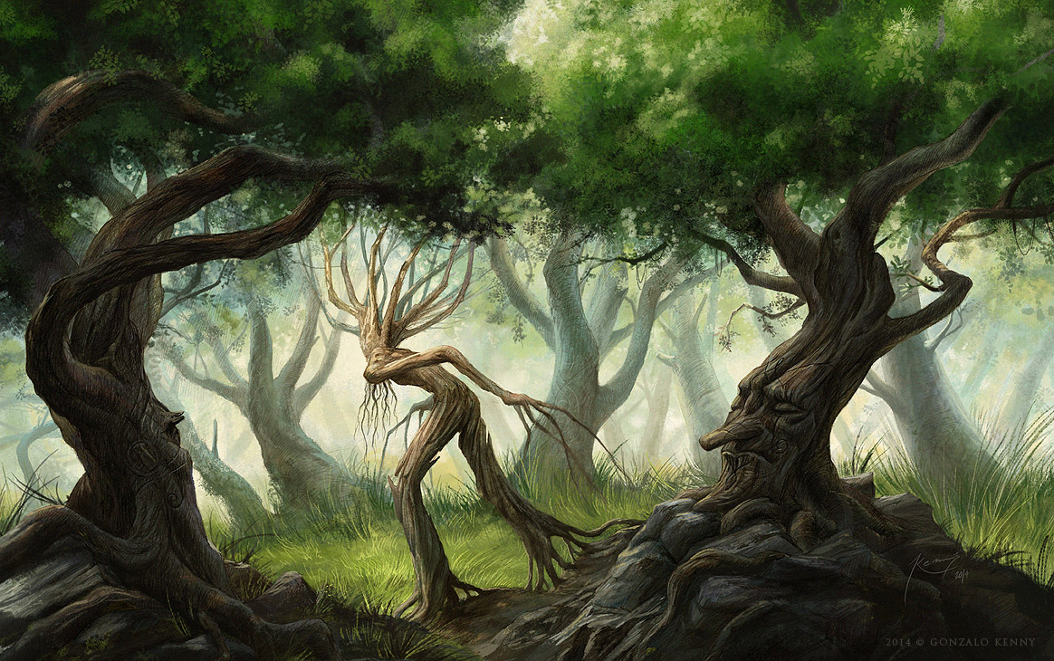 Ents and huorns by gonzalokenny on deviantart for Art and craft drawing and painting