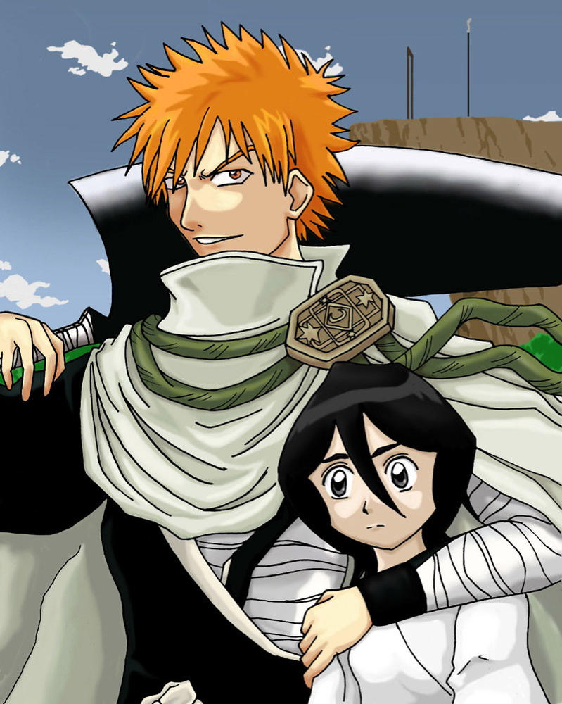 Bleach: Ichigo and Rukia by himeko on DeviantArt