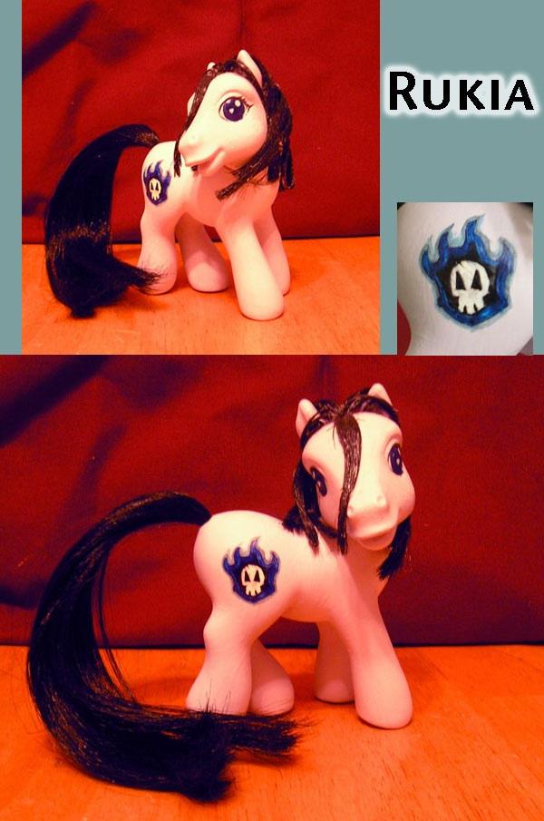 Custom Rukia Pony by himeko