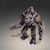 Futuristic war robot by juannahuel