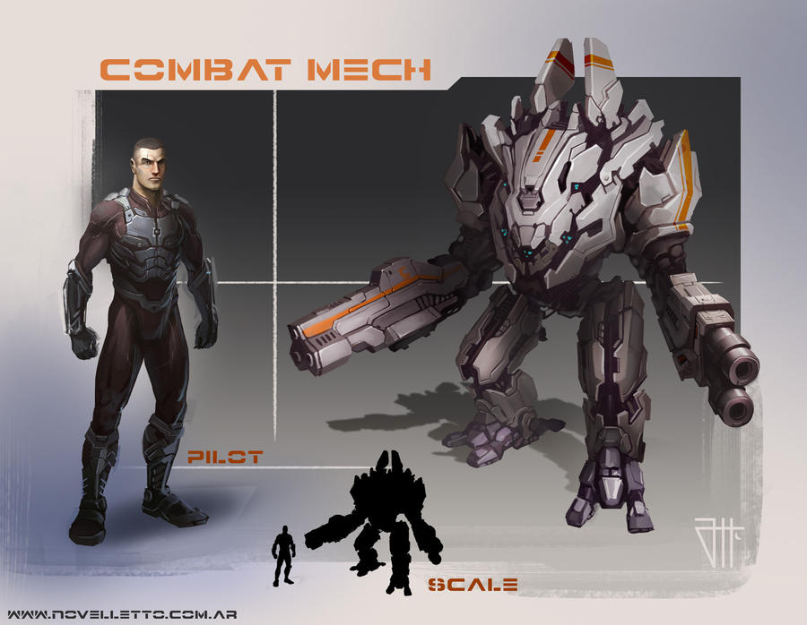 Mech combat by juannahuel