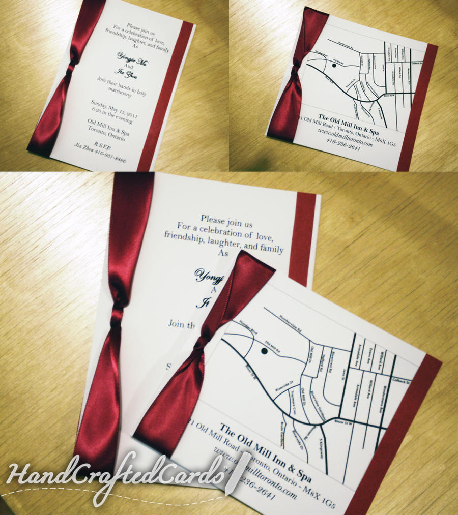 Blood Red and White Wedding Invitations by HandCraftedCards on ...