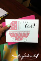 Baby Stroller Card by HandCraftedCards