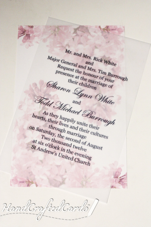 Flowerly Background With Text On Transparent Paper By