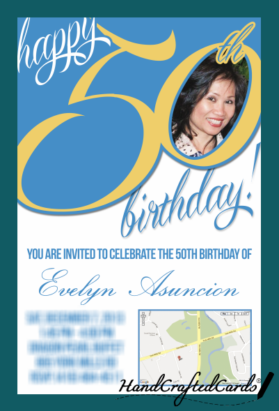 50th Birthday Invitation By HandCraftedCards