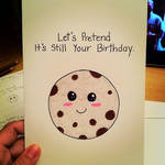 Belated Happy Birthday Cookie Card