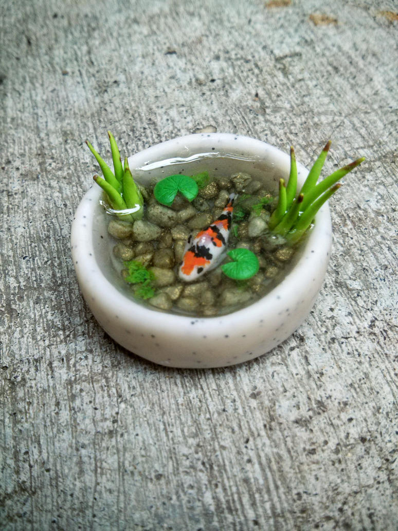 Mini Koi Pond by ColliEnaid