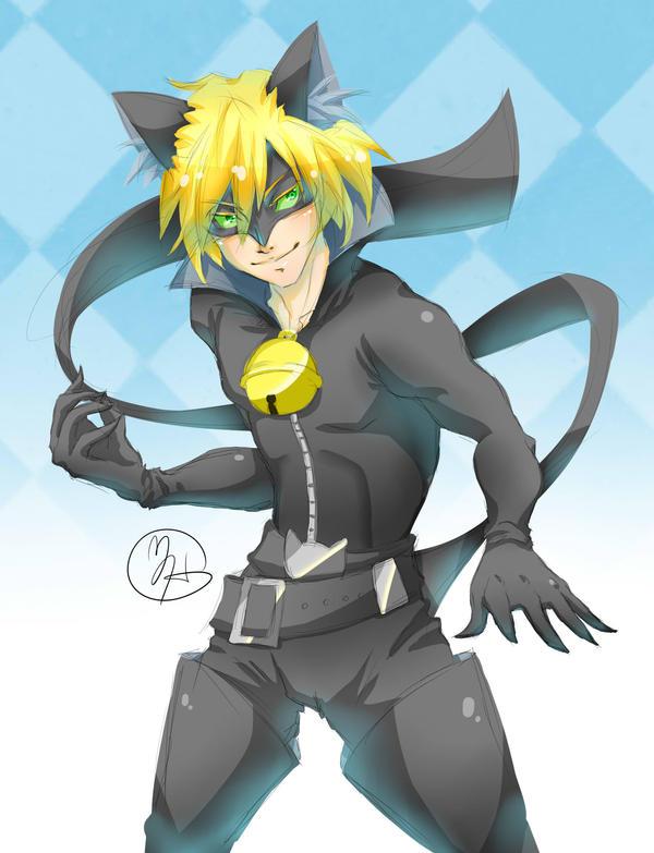 Cat Noir Doodle by KitsuneSama1720