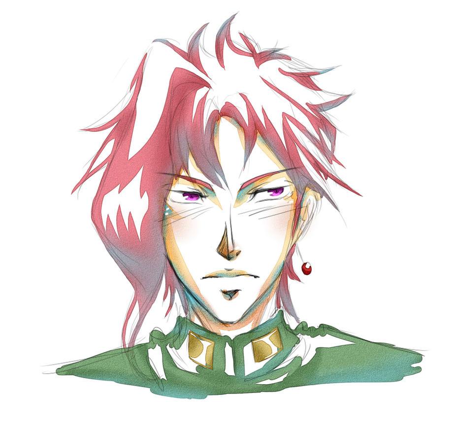 Kakyoin-doodle by KitsuneSama1720