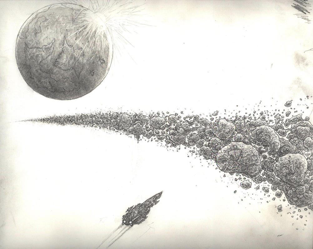 drawn picture of an asteroid - photo #2