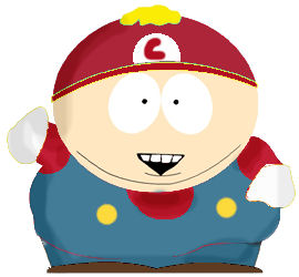 Cartman is mario by Bizzozeron