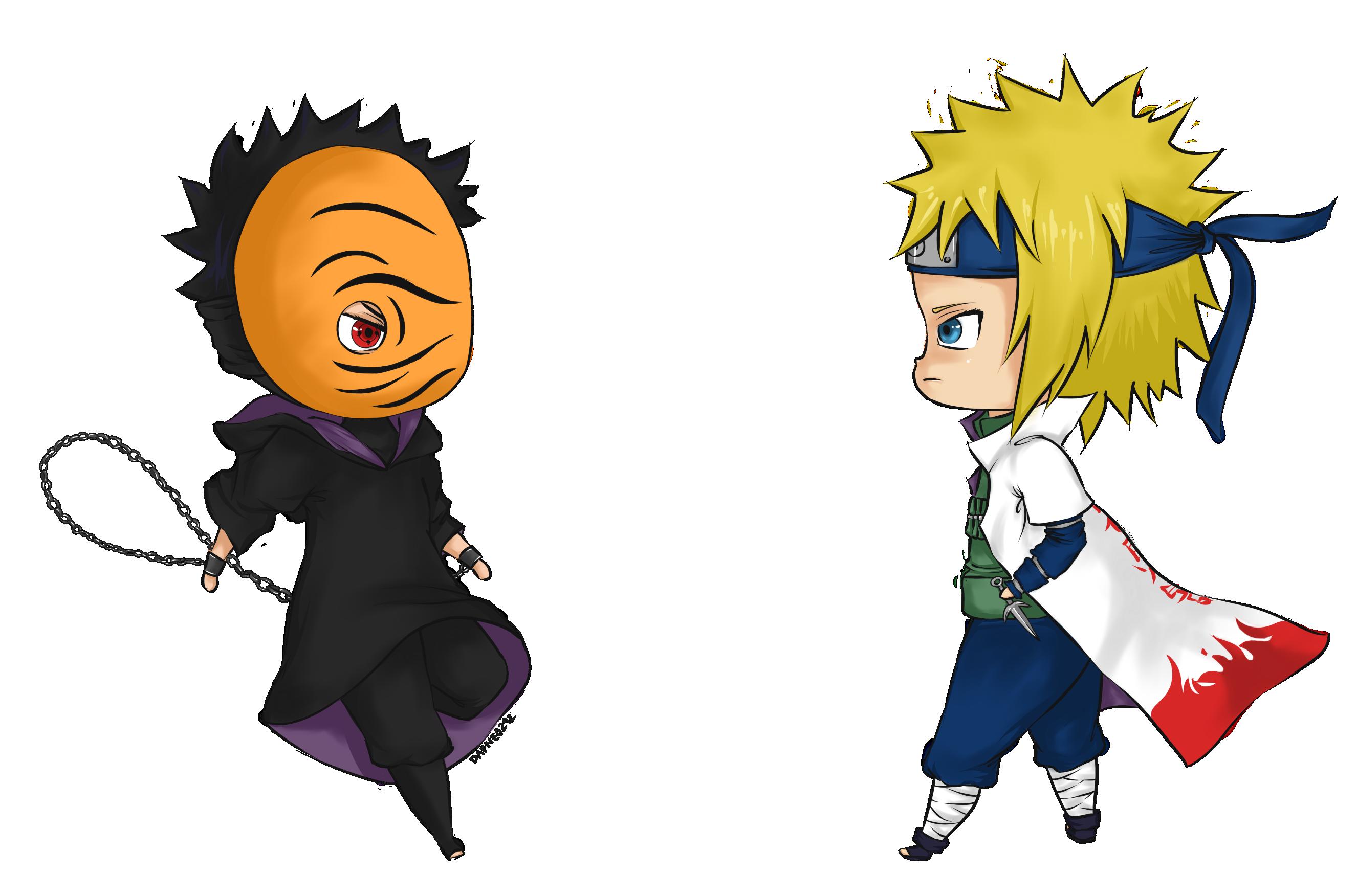 tobi vs minato by dafne0292 on deviantart