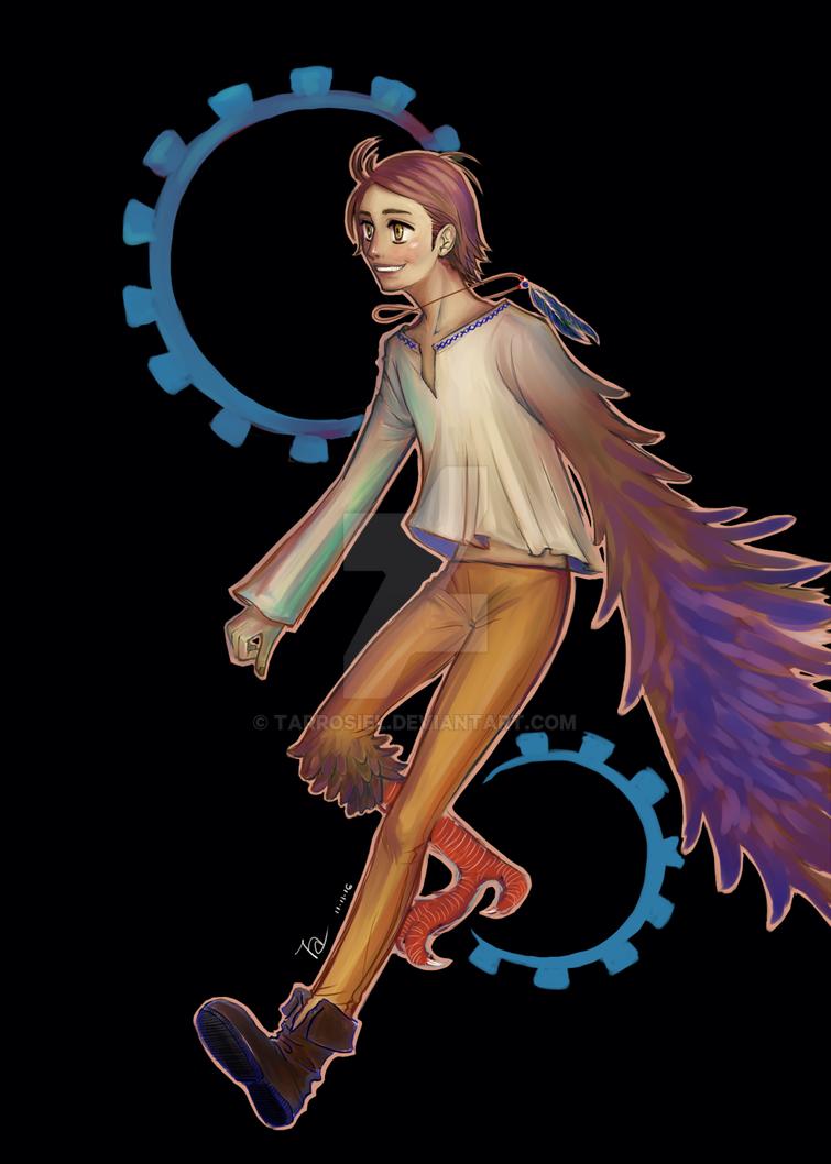 Lucky bird by Tarrosiel
