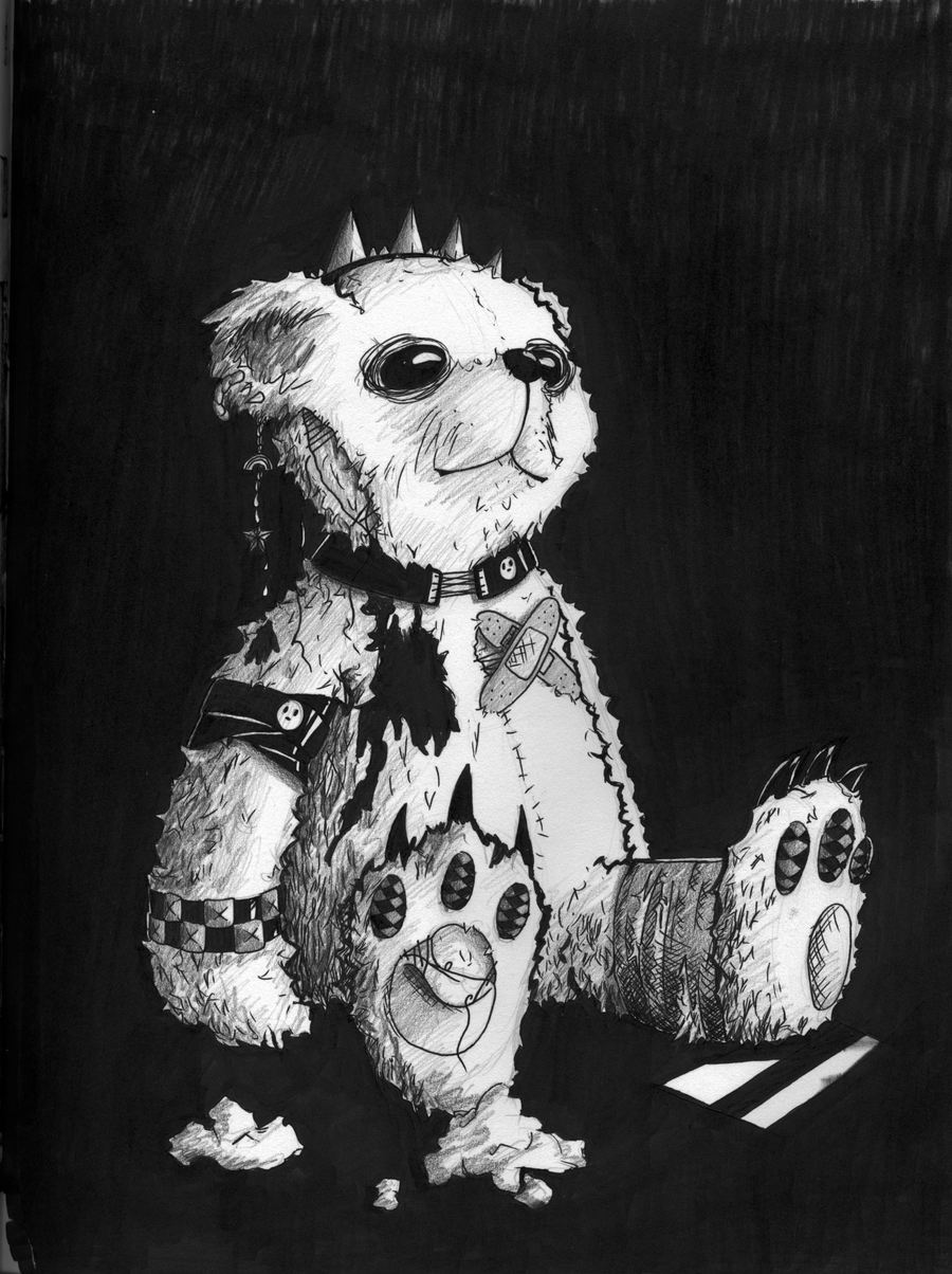 Happy Emo Teddy Bear by stickopotamu