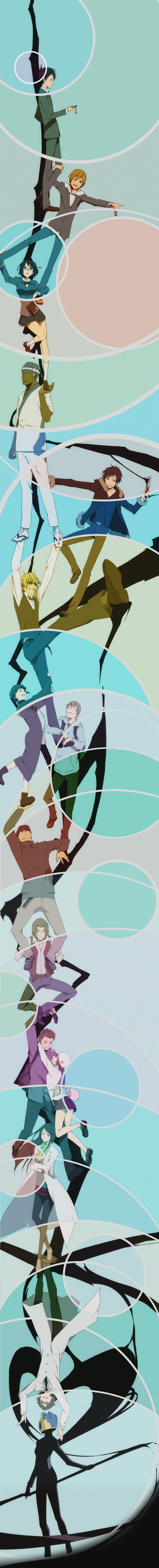 Durarara End credits by stickopotamu