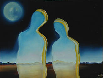 Couple formed by the viel of t by the-surreal-arts