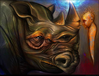 Conversation with Rhino by the-surreal-arts