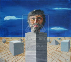 Self Portrait with Geometry by the-surreal-arts