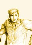 Alphonse Elric sketch, colorized