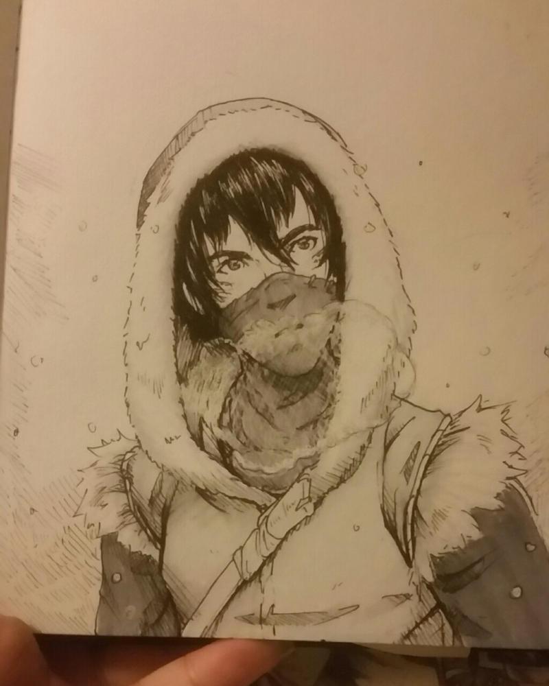 Ice mage face by NecroNinja34