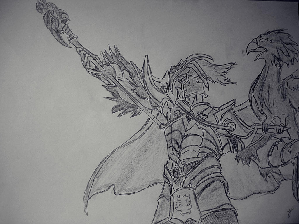 League Of Legends Tyrant Swain By Kquader On Deviantart