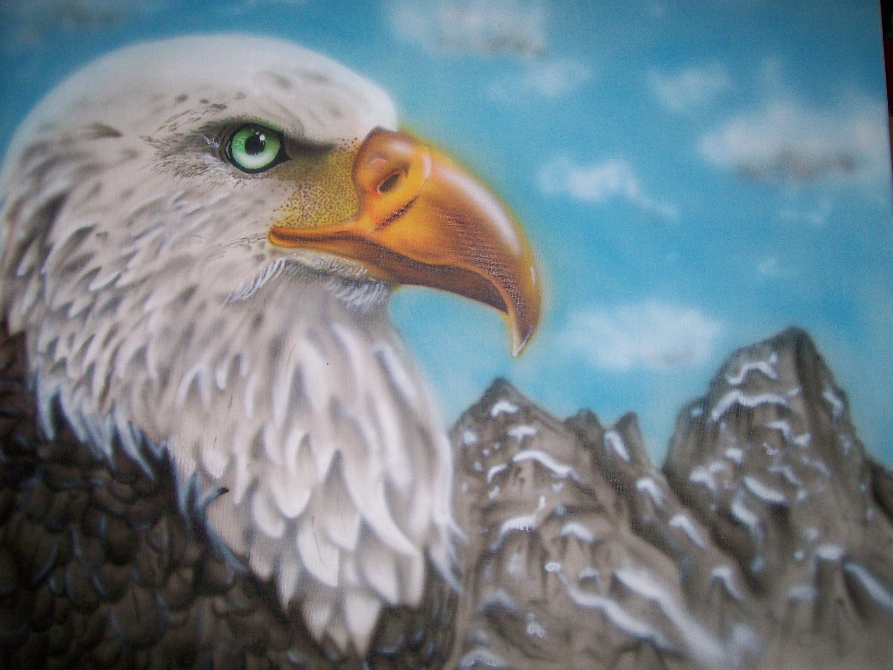 Airbrush Bald Eagle by jimsairbrush on DeviantArt