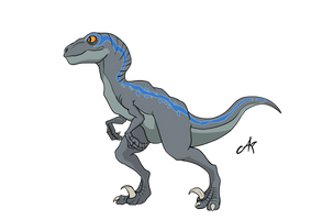 Blue the Velociraptor by De-Art-Raptor