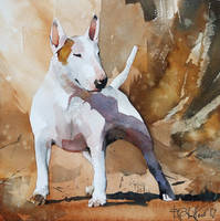 Bullterrier for Jonathan by PawelGladkow
