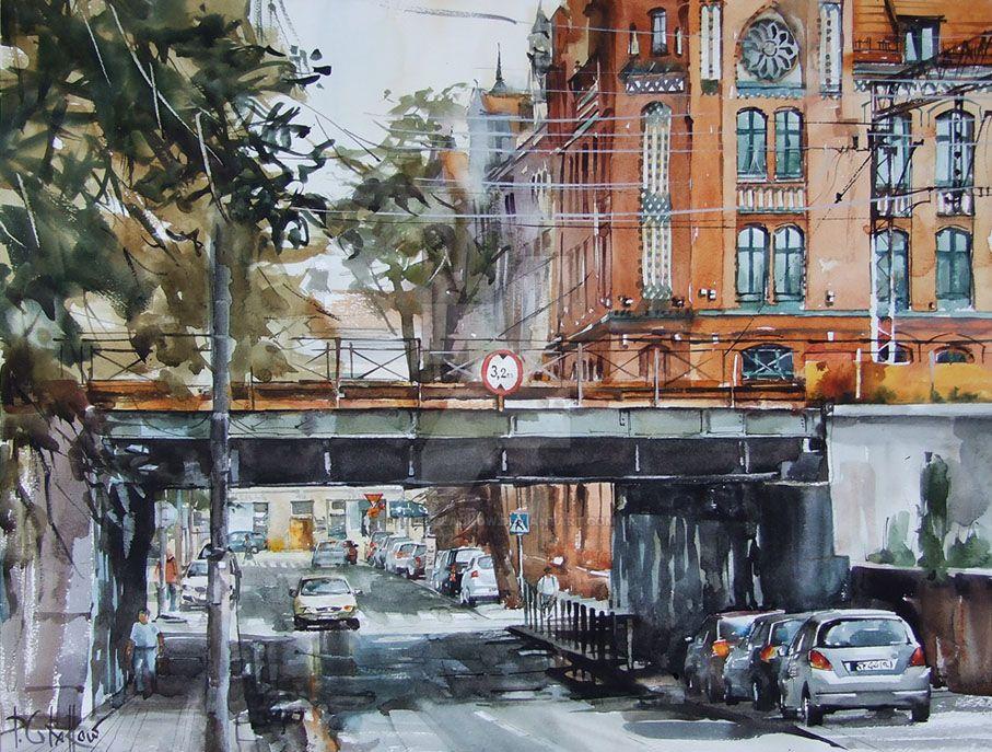 Katowice, Damrota Street by PawelGladkow