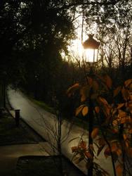 Sun Tower light sunset by sakurain93