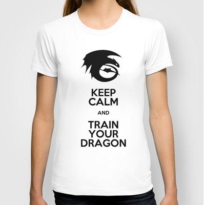 Keep Calm and train your dragon t shirt design by sakurain93