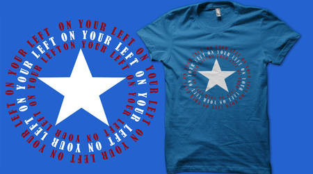 On your  left! shirt design FOR VOTING! by sakurain93