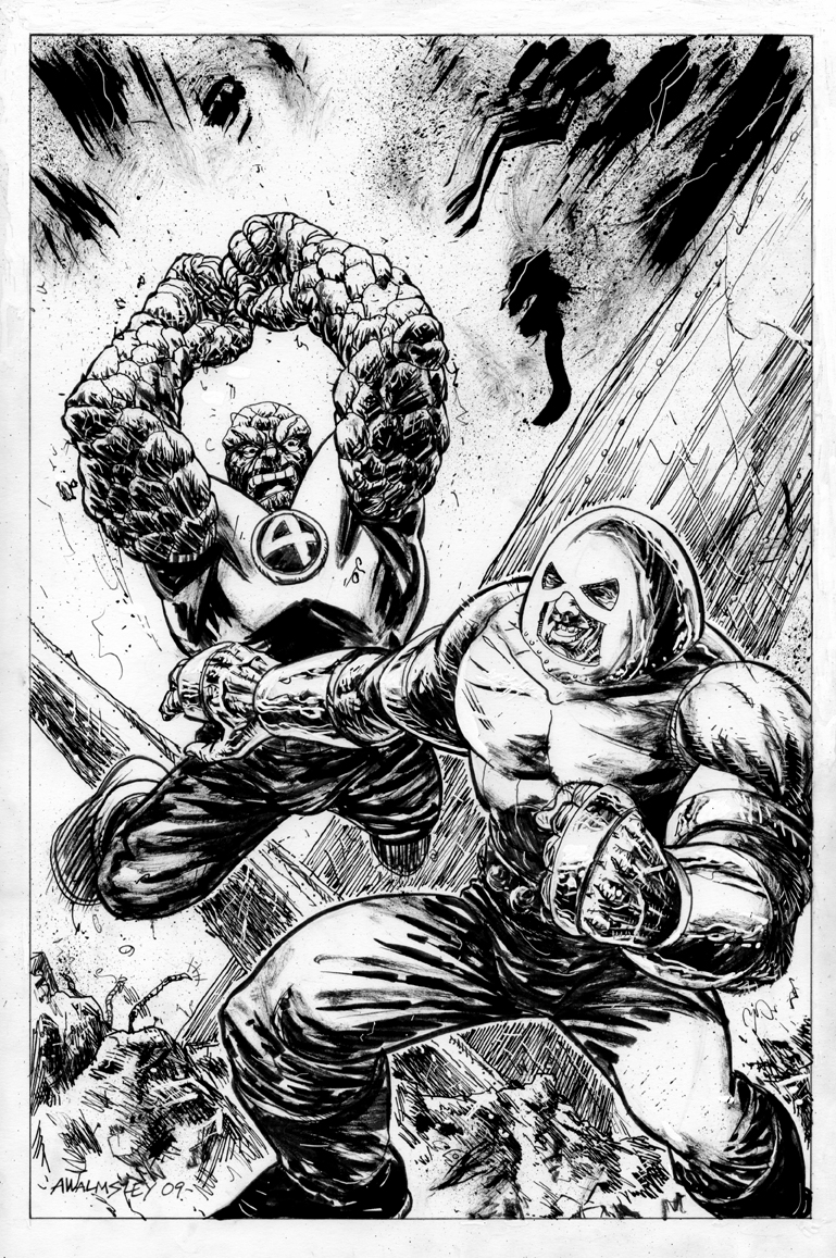Juggernaut vs. Thing by Walmsley on DeviantArt